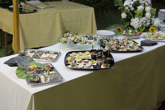 Buffet di nozze alla Valle di Ceri di Cerveteri Roma
